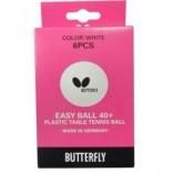 Мячи пластик BUTTERFLY EASY BALL G40+ 6шт (белые)