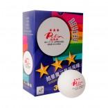 Мячи пластиковые бесшовные PALIO 3*** 40+ 6шт ITTF (белые)